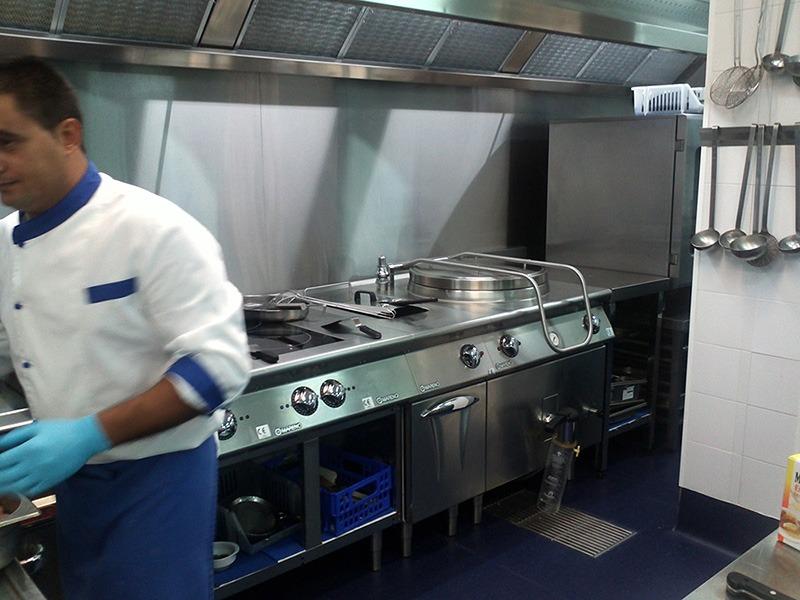 Hospital Capio - planchas de cocina