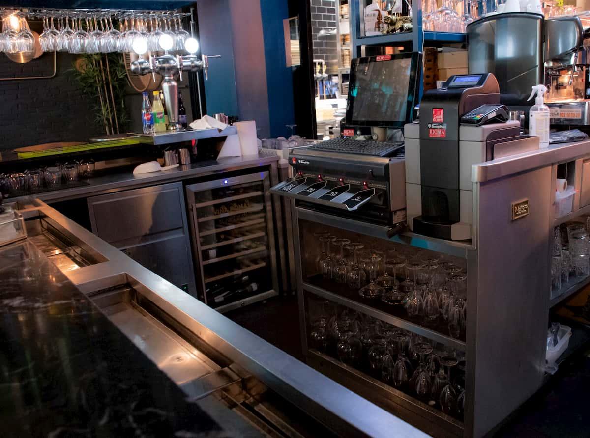 barra de bar para restaurante