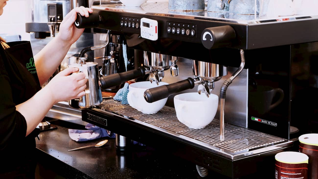 máquina de café industrial