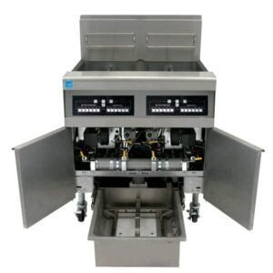 High-Efficiency Gas Fryers with Filtration